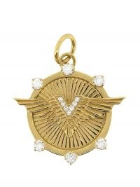 Foundrae 18kt yellow gold diamond Passion medallion / circular luxe medallions / round luxury pendants