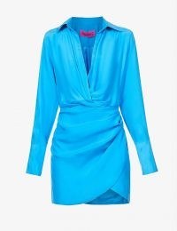 GAUGE81 Naha wrap silk mini dress – contemporary fashion