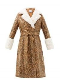 STAND STUDIO Genesis leopard-print faux leather coat ~ animal print coats