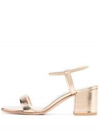 Gianvito Rossi Nikki mid-heel gold-leather sandals
