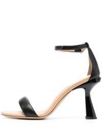 Givenchy Carène 94mm sandals ~ sculpted heels ~ black angled heel ankle strap sandal