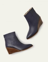Boden Grafton Boots | navy blue wedges | wedge heels