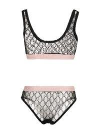 Gucci Lingerie Set – Gucci tulle jacquard bra set