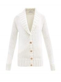 GABRIELA HEARST Gustav shawl-collar cashmere cardigan ~ chunky front button up cardigans