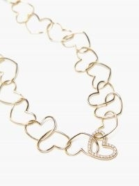 YVONNE LÉON Heart-link diamond & gold necklace | luxe necklaces | hearts | fine jewellery