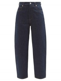 ALEXANDER MCQUEEN High-rise straight-leg jeans ~ dark blue designer denim
