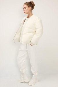 storets Zoe Puffer Bomber Jacket   ivory padded jackets