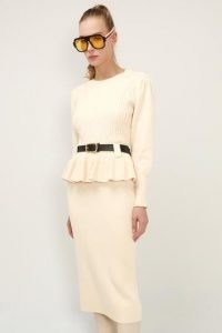 storets Della Belted Knit 2-Piece Set   knitted fashion sets   knitwear   peplum top and skirt co ord