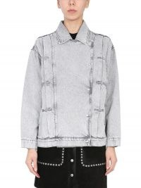 IRO COTTON DENIM BIKER JACKET | casual grey jackets