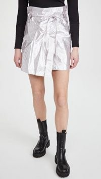 IRO Cove Skirt | lilac-silver mini skirts