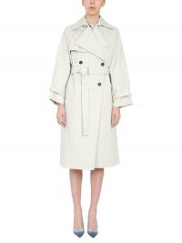 IRO DOUBLE BREASTED COTTON COAT WITH BELT | belted coats | classic trench