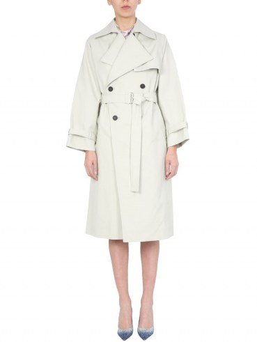 IRO DOUBLE BREASTED COTTON COAT WITH BELT   belted coats   classic trench - flipped