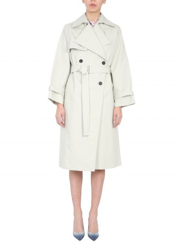 IRO DOUBLE BREASTED COTTON COAT WITH BELT   belted coats   classic trench