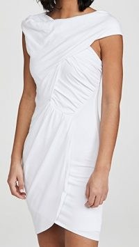 IRO Ermett Dress ~ white ruched occasion dresses