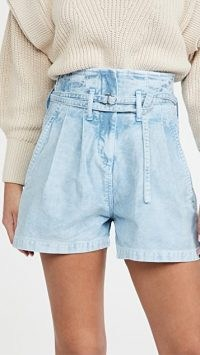 IRO Trab Shorts ~ blue denim ~ high waist ~ retro