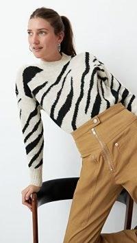 Isabel Marant Etoile Genna Pullover / zebra stripes