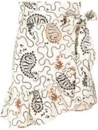Isabel Marant Étoile abstract-print wrap skirt / paisley prints