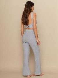 Reformation Isle Two Piece Set – blue loungewear trousers and crop top co-ord