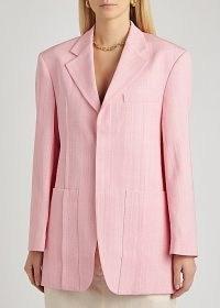 JACQUEMUS La Veste D'Homme pink blazer ~ boxy jackets ~ tailored blazers