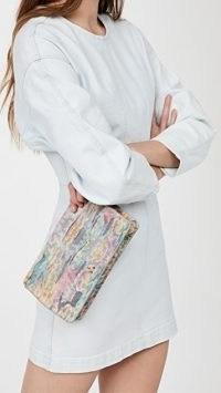 Jerome Dreyfuss Clic Clac Clutch / multicoloured animal print bags