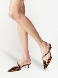 Jimmy Choo Ros 35mm mules ~ studded kiten heels