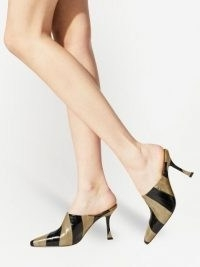 Jimmy Choo Rya 90mm mules ~ striped neutral leather shoes