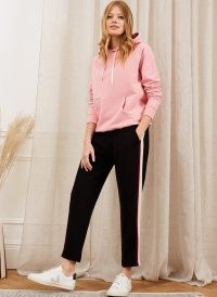 Baukjen Joy Pant Caviar Black & Pastel Rainbow / casual side stripe pants