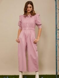 sister jane Sweet Servings Jumpsuit cotton candy ~ pink puff sleeve jumpsuits