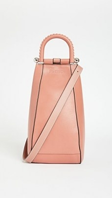 JW Anderson Small Wedge Bag Powder Pink - flipped