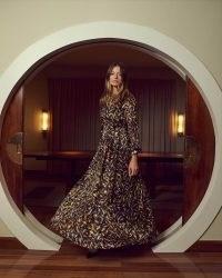 goat KITTY MAXI DRESS ~ long flowing leaf print dresses