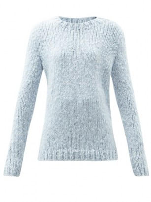 GABRIELA HEARST Lawrence blue round-neck cashmere sweater - flipped