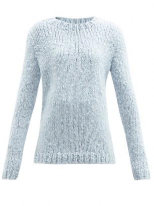 GABRIELA HEARST Lawrence blue round-neck cashmere sweater