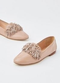L.K. BENNETT LERA PINK LEATHER TASSEL LOAFER / luxe loafers / fringed flats