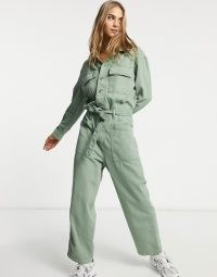 Levi's utility jumpsuit in khaki ~ green boilersuits