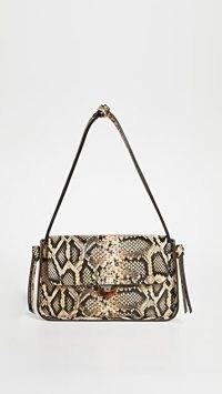 Loeffler Randall Maggie Baguette Bag / snake effect handbag