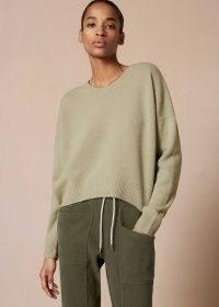 Me+Em Lofty Cashmere Curved Hem Jumper ~ sage green drop shoulder sweater ~ meandem jumpers