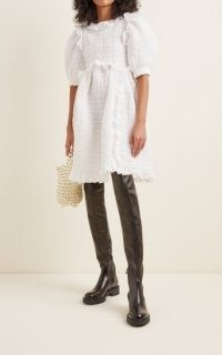 Cecilie Bahnsen Lotta Smocked Cotton-Blend Dress | dresses with volume