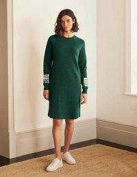 BODEN Mabel Sweatshirt Dress Palm Leaf / green sweat dresses / comfort dressing
