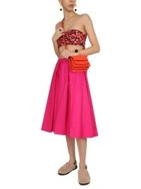 MARNI COTTON POPLIN WHEEL SKIRT | fuchsia pink midi skirts