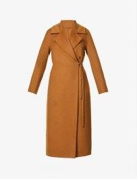 MAX MARA Piroghe wrap-over camel-wool coat – light brown winter coats