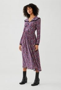 GHOST FABLE DRESS Paisley Ditsy ~ floral shawl collar dresses