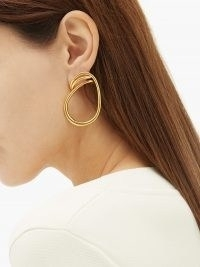 CHARLOTTE CHESNAIS Maxi Round Trip 18kt gold-vermeil earrings ~ statement hoops