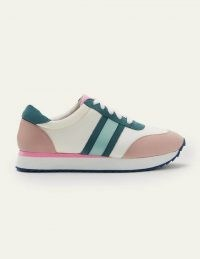 Boden May EVA Trainers – White/Submarine | multicoloured sneakers