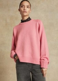Me+Em Merino Cashmere Boyfriend Jumper ~ pink oversized sweater ~ slouchy knitwear ~ meandem jumpers