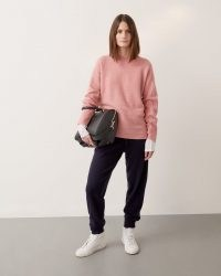 Jigsaw MERINO SLOUCHY JUMPER PINK | luxe oversized jumpers