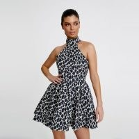 Derma Department Mia Mini Dress / leopard print fit and flare