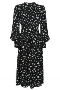 GHOST JOSS DRESS Mono Floral ~ black and white flower print dresses