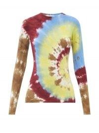GABRIELA HEARST Miller round-neck tie-dye cashmere sweater
