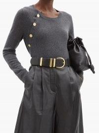 ALTUZARRA Minamoto button-shoulder cashmere sweater