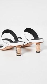 MM6 Maison Margiela Double Strap Mules / logo cork heels